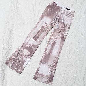 Y2K Print Low Rise Pants